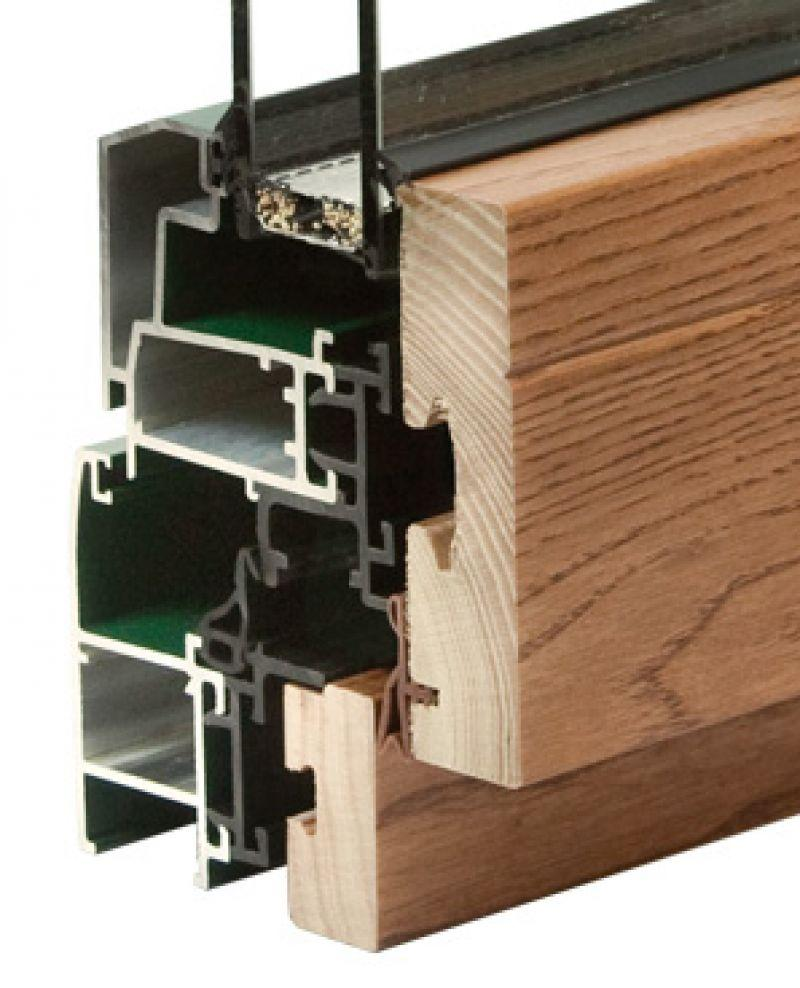 Finestra alluminio legno trial q 2