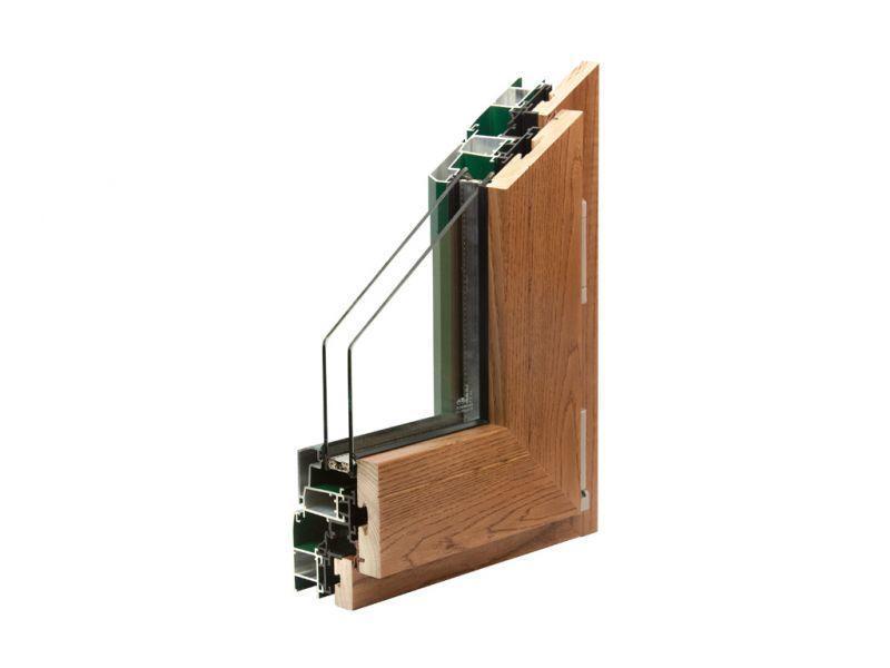 Finestra alluminio legno trial q 3