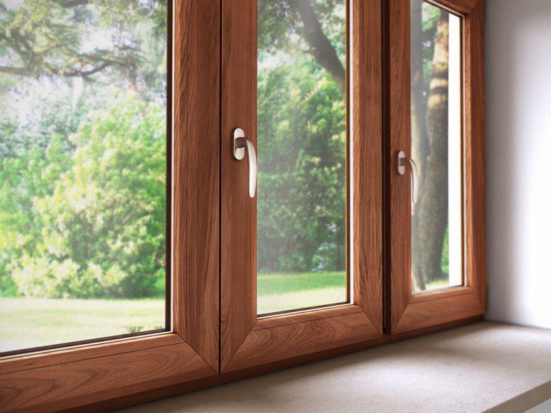 Finestra alluminio legno trial q 4