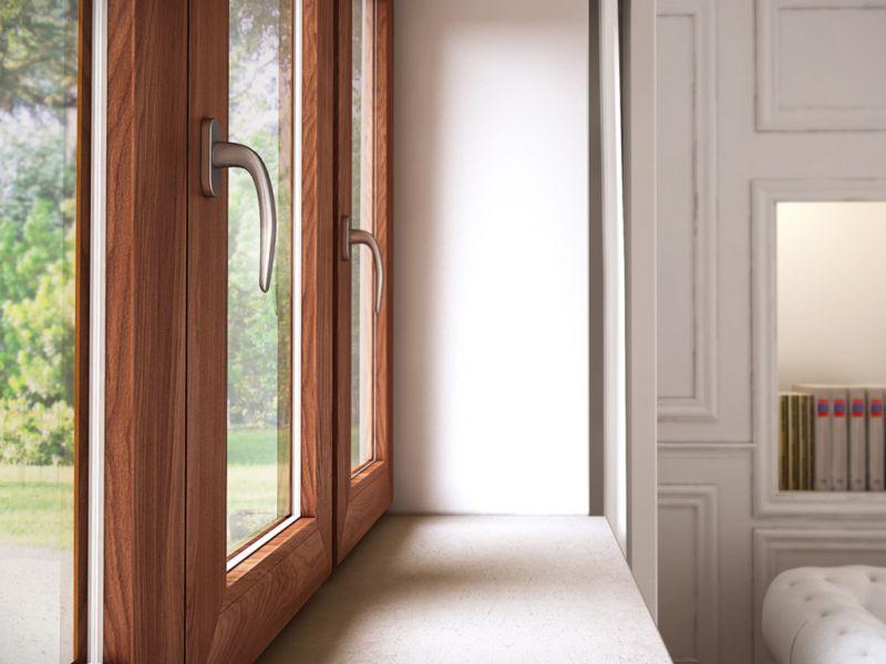 Finestra alluminio legno trial q 5