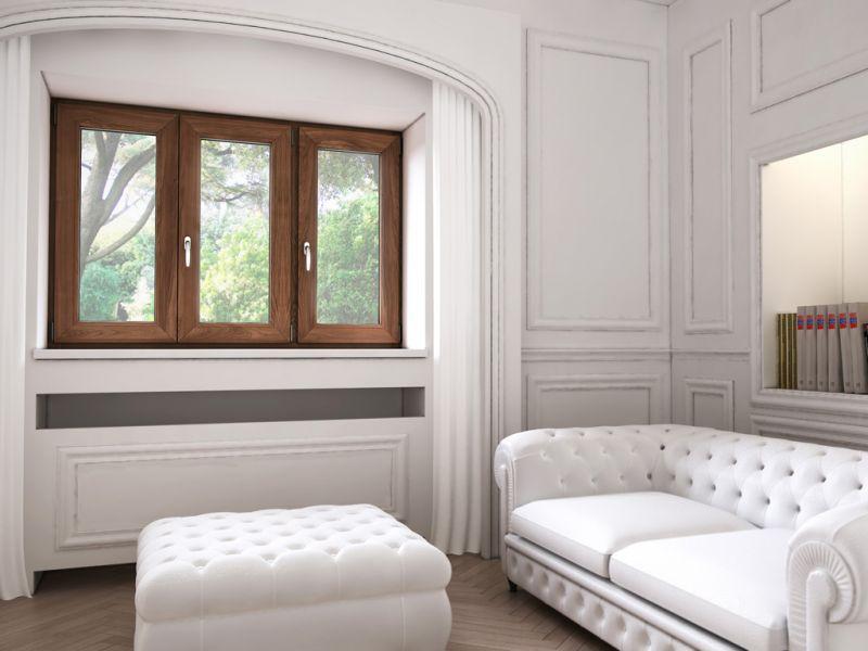 Finestra alluminio legno trial q 6