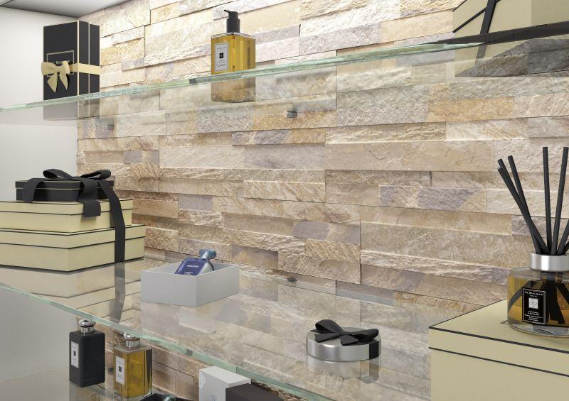 Rivestimento In Pietra Interno : Prezzo: cubics beige: il rivestimento per interni che imita la pietra