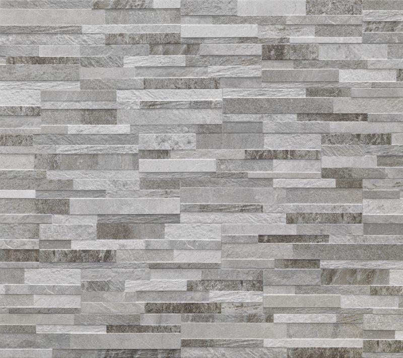 Prezzo cubics grey gres effetto pietra per interni raffinati for Pittura lavabile prezzi leroy merlin