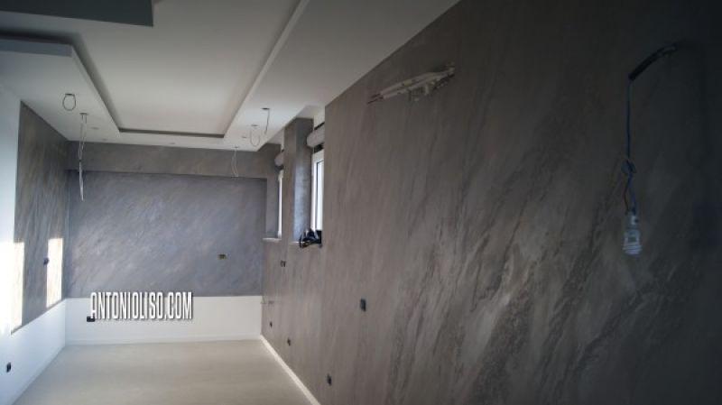 Decorazione materica pareti Milano 4