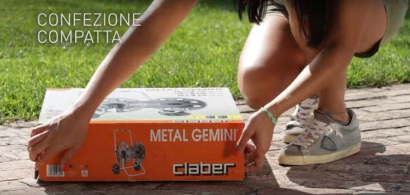 Carrello avvolgitubo Metal Gemini Claber 1
