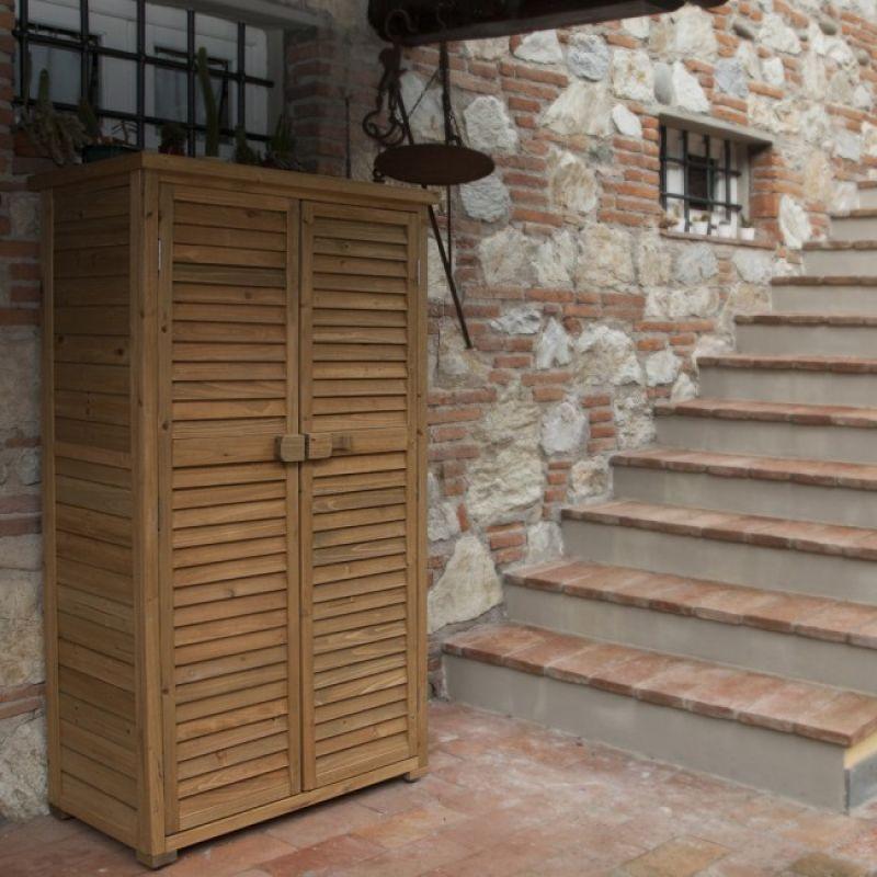 Prezzo armadio da esterno in legno solido for Armadio esterno legno