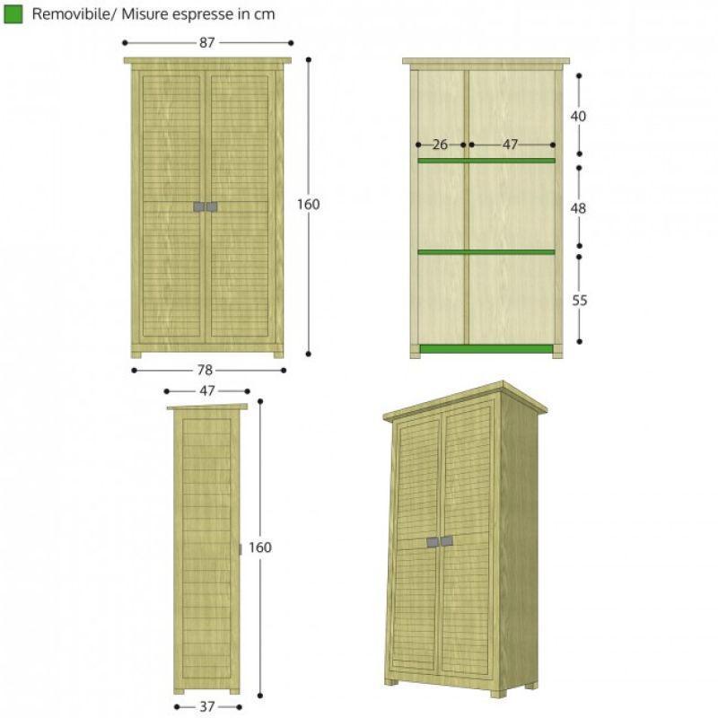 Armadio da esterno in legno SOLIDO 3