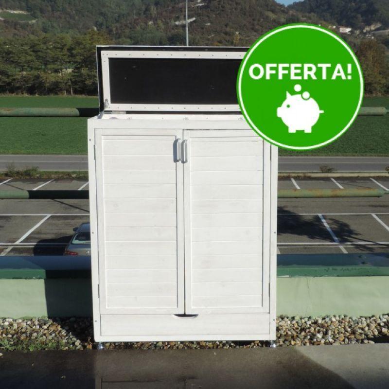 Prezzo armadio da esterno raccolta differenziata differenzio - Armadietti per esterno in plastica ...