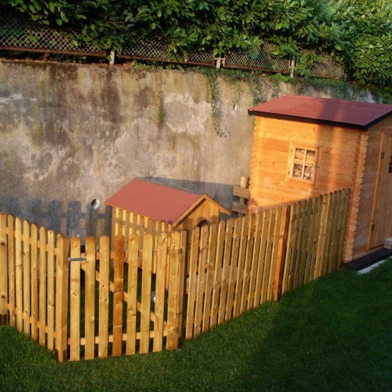 Steccato alto preassemblato in pino 1