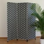Paravento wall bianco e nero