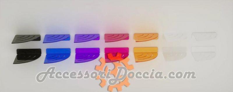 Mensola doccia angolare con asole in plexiglass 3