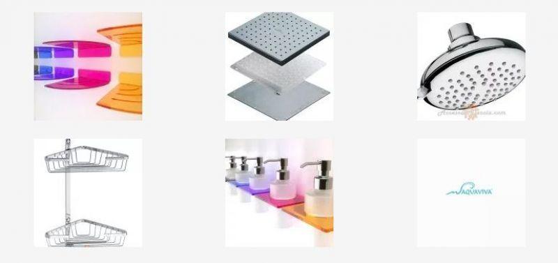 Mensola doccia angolare con asole in plexiglass 5