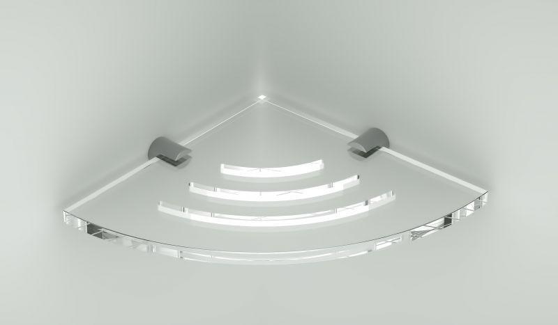 Angolare doccia singolo con asole in plexiglass 1