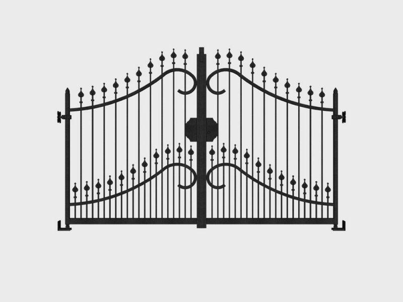 Cancello in ferro battuto Firenze 1