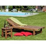 Set sdraio + tavolino da giardino in