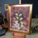 """Dipinto spagnolo firmato """"natura morta con fiori"""""""