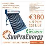 Pannello Solare Termico Mod. SPR 18-18 205 LITRI