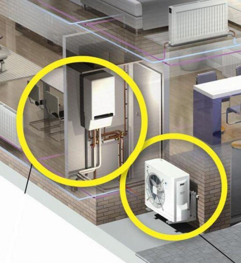 Prezzo pompa di calore ibrida rotex - Caldaia per casa 3 piani ...