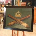 Dipinto olandese olio su cartoncino stemma con