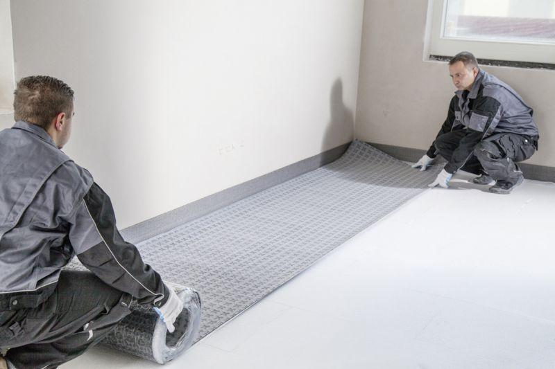 Sistema di posa impianto radiante a pavimento REHAU 4