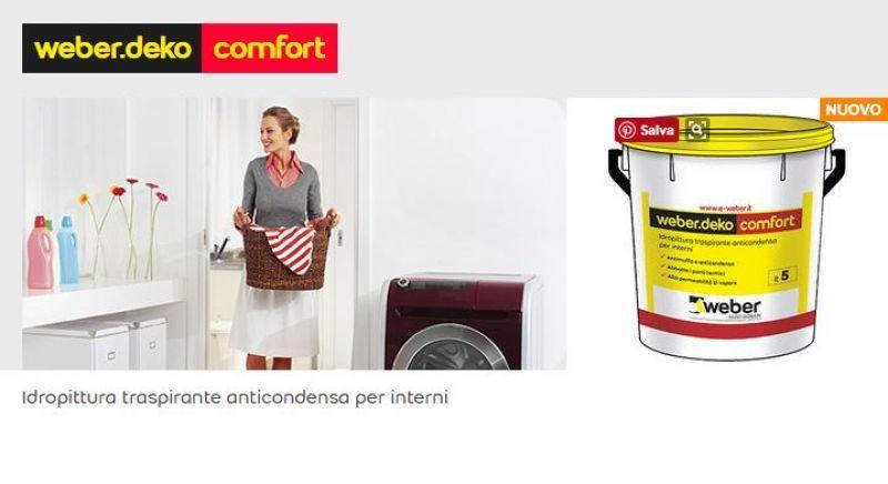 Idropittura anticondensa weber.deko comfort 1