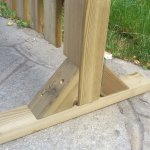 Piedistallo magic easel in legno per steccati