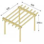 Pergola basic indipendente 420x420 legno garanzia 15