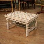 Tavolino olandese in legno dipinto
