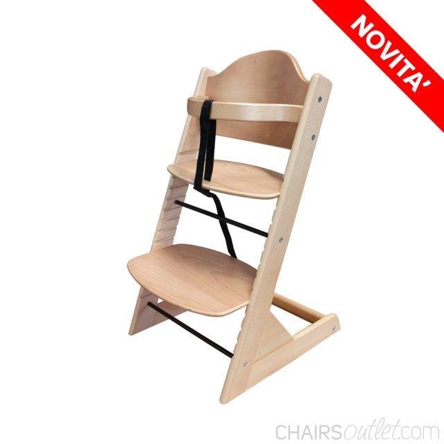 Sam: seggiolone in legno - 1963241 1