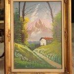Dipinto italiano firmato paesaggio di montagna