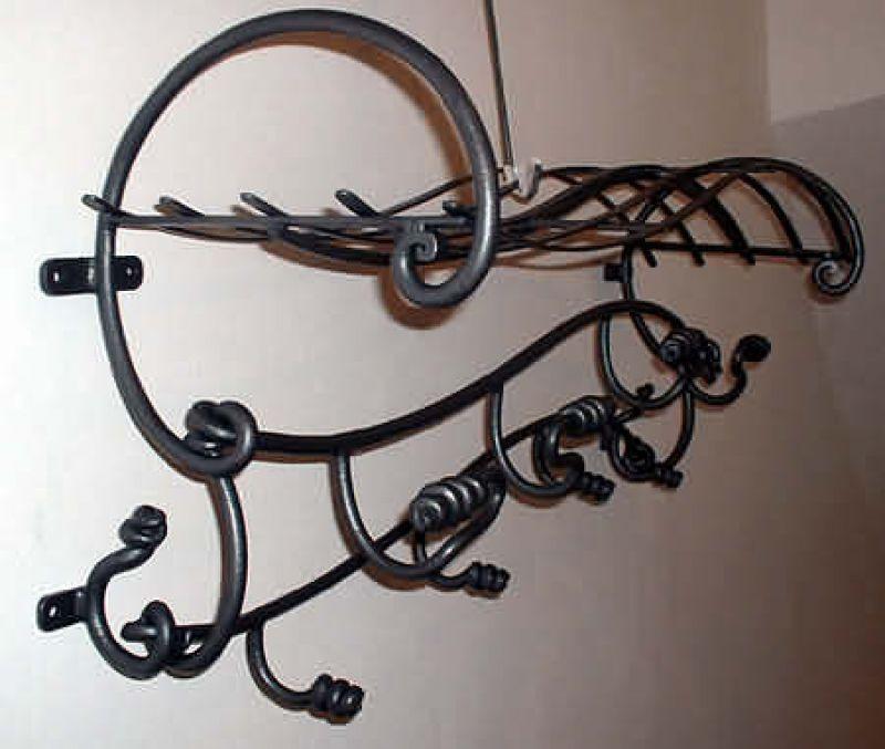 Appendiabiti in ferro battuto forgiato 1