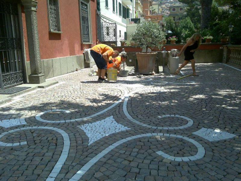 Posatori porfido Marino di Roma 1