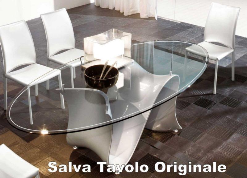 Tappetino trasparente per tavolo 140 x 90 cm 3