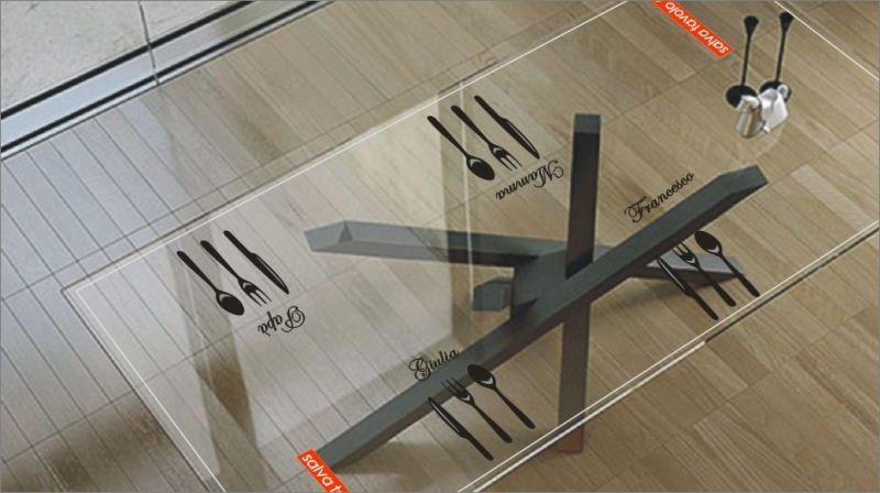 Tappetino cristallino per tavolo 160 x 100 cm 2