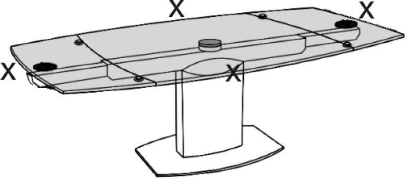 Tappetino cristallino per tavolo 160 x 100 cm 4