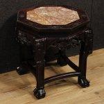 Tavolino cinese in legno con piano in