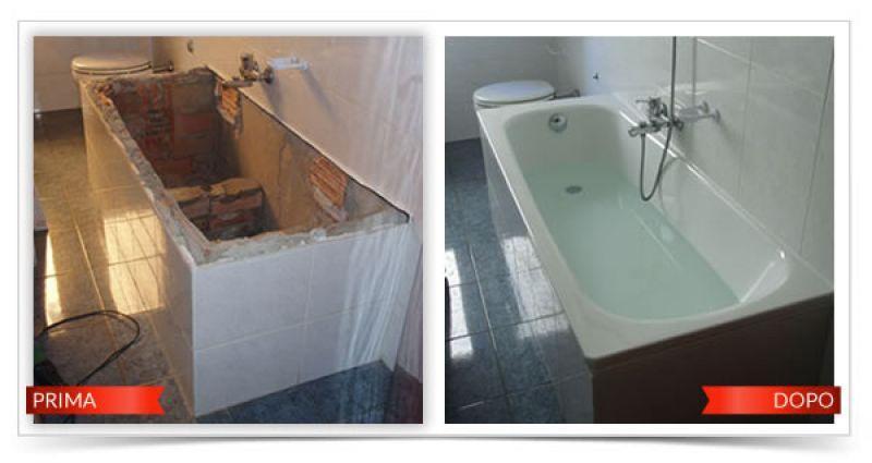 Sovrapposizione vasca da bagno Roma 1