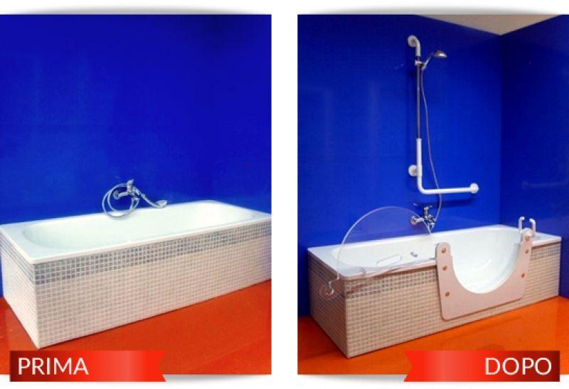 Installazione sportellino per disabili su vasca da bagno Roma 1