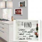 Vassoio decorativo bianco vino in legno 35