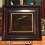 Antico dipinto fiammingo olio su tavola del