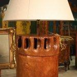 Lampada di design il legno e tessuto