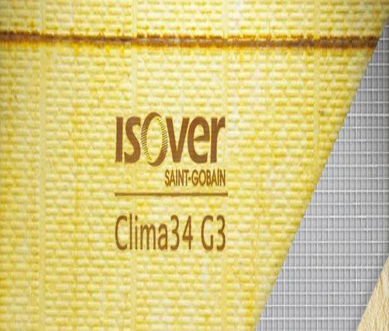 Pannello in lana di vetro Isover Clima34 G3 2