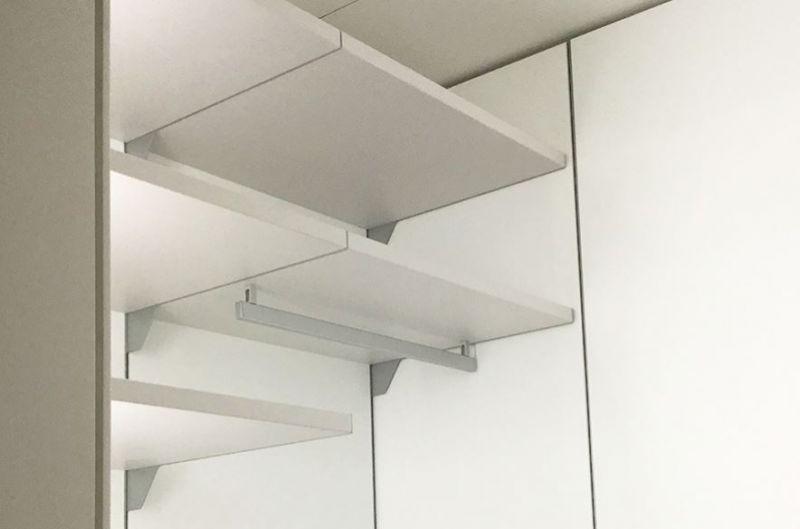 Cabina armadio angolare con pannelli 3