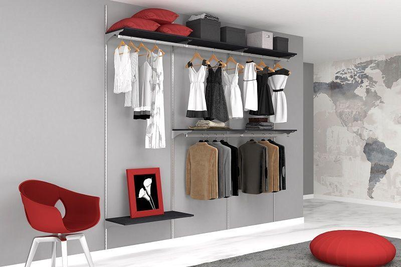 Cabina armadio senza pannelli di rivestimento 6