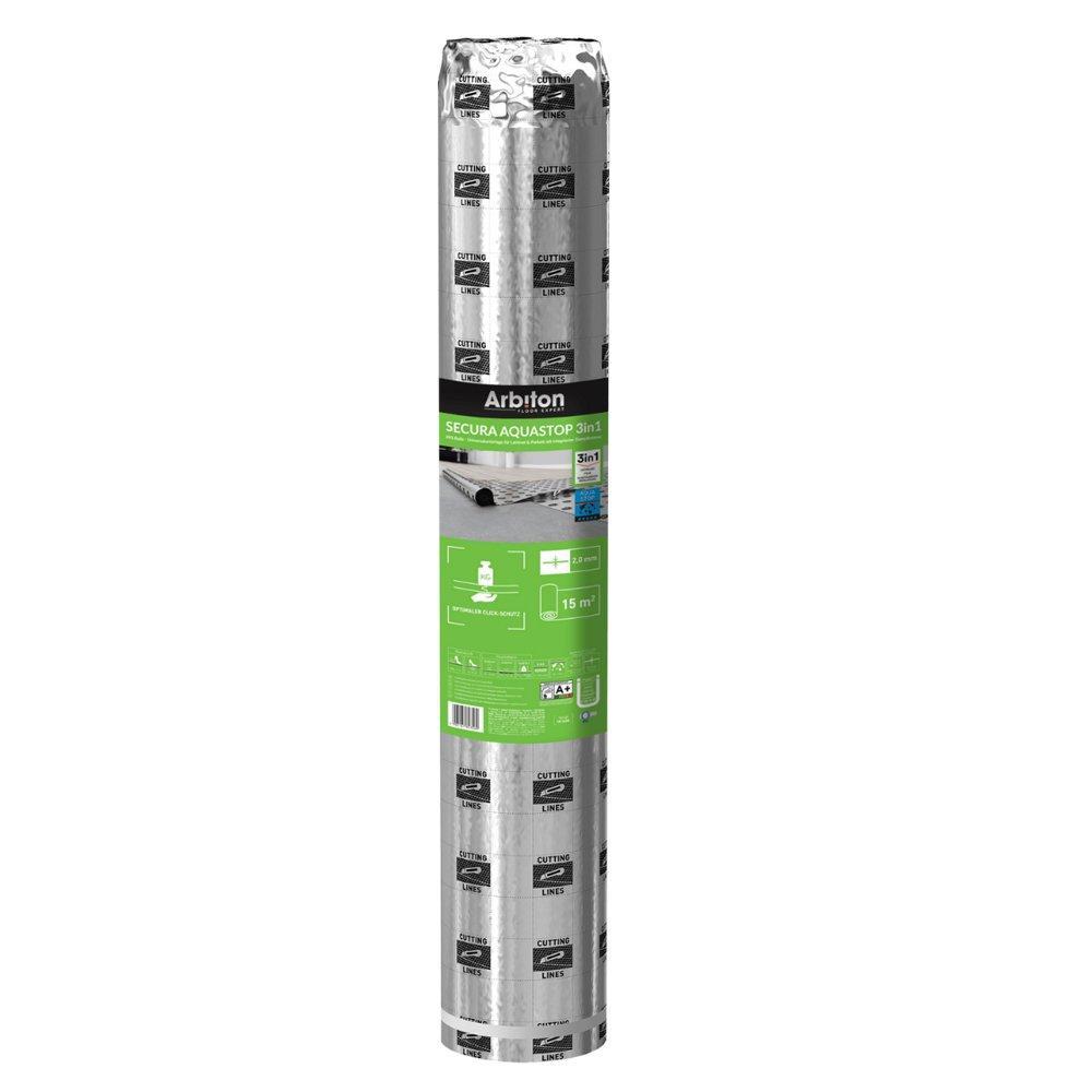 Sottopavimento secura aquastop 2 mm con barriera 1