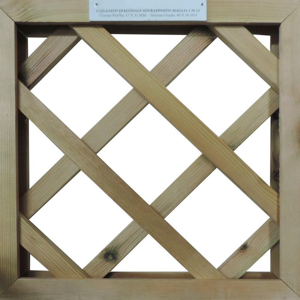 Grigliati su misura in legno trattato maglia - 2497414 1