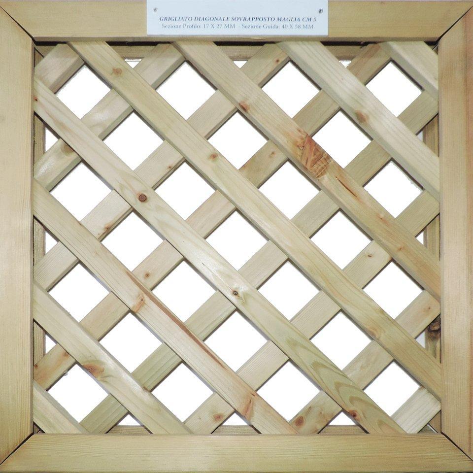Grigliati su misura in legno trattato maglia 1