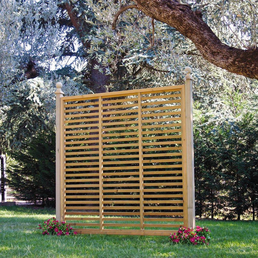 Pannello frangivista su misura in legno a 1