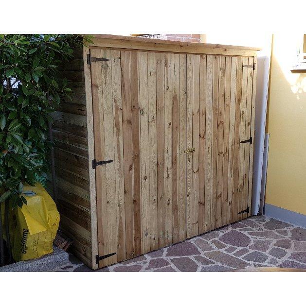 Casetta ripostiglio legno impregnato 183 x 90 1