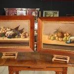 Coppia di dipinti spagnoli nature morte del
